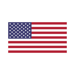Vector image of USA flag.United States of America flag