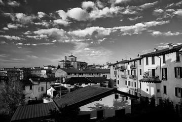 Panoramica di Pozzolengo, cittadina nei pressi del lago di Garda, provincia di Brescia.