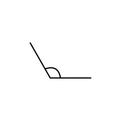 obtuse angle icon. Geometric figure Element for mobile concept and web apps. Thin line  icon for website design and development, app development. Premium icon on white background