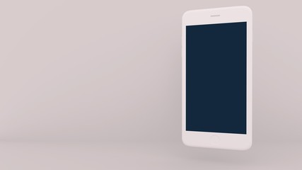 Blank modern smartphone mockup template with clipping path