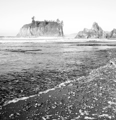 Pacific Ocean Bluffs Buttes Rocky Shore White Waves