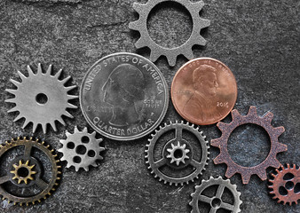 Coins and gears