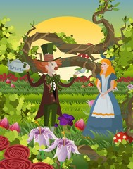 alice and mad hatter classic tale