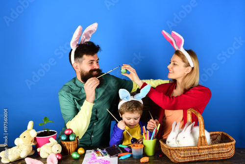 Happy Easter Ideas For Happy Family Cute Child Wearing Bunny Ears
