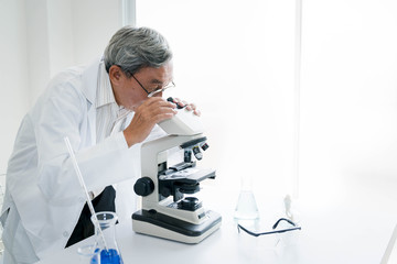 Scientist at work in his lab