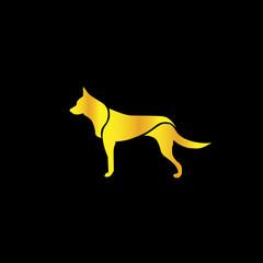 champions dog logo icon - vector