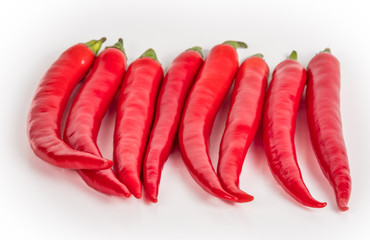 Red Hot Peppers Isolated