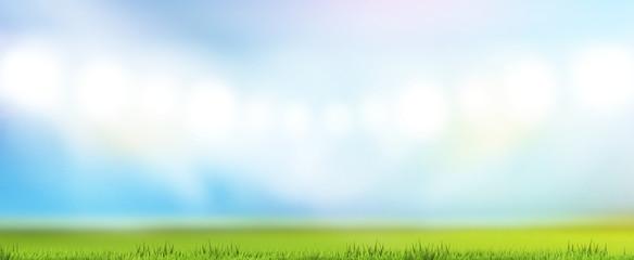 green grass meadow lawn blades of grass blurred backgrodun 3d rendering