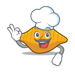 Chef conchiglie pasta character cartoon