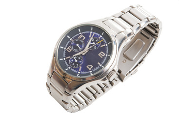 men's wristwatch isolated