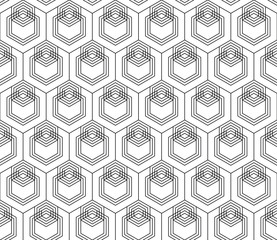 Vector seamless geometric pattern. Classic Chinese ancient fully editable ornament