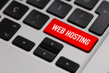 Black keyboard with WEB HOSTING button