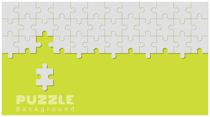 Abstract conceptual background with incomplete jigsaw puzzle , vector , illustration