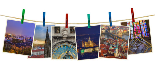Prague in Czech republic images (my photos) on clothespins