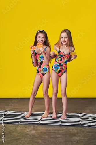 Teenagers posing bikini #2