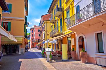 Peschiera del Garda colorful Italian architecture view