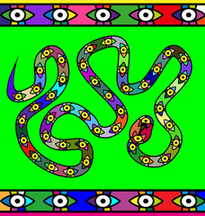 abstract colored image of serpent
