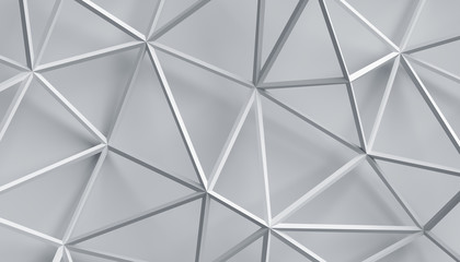 Abstract 3d rendering of geometric structure. Modern background with connected lines. Minimalistic design for poster, cover, branding, banner, placard.