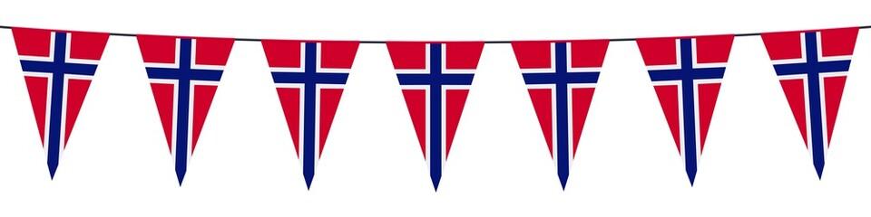 Banner. Garlands, pennants. Norway