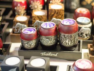 Thai souvenir candle