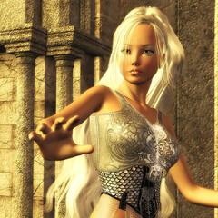 3D Illustration of a Fantasy Woman
