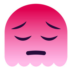 Emoji bedauernd - pinker Geist