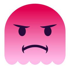 Emoji beleidigt - pinker Geist
