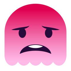 Emoji besorgt - pinker Geist