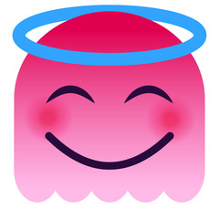Engel Emoticon - pinker Geist