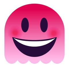 Emoji lachend - pinker Geist
