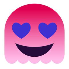 verliebtes Emoticon - Herzaugen - pinker Geist