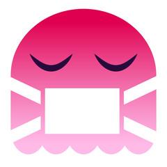 Emoji krank - pinker Geist