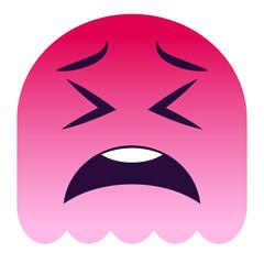 Emoji zweifelnd - pinker Geist