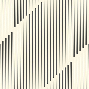 Seamless Vertical Line Pattern. Vector Monochrome Background. Geometric Striped Ornament