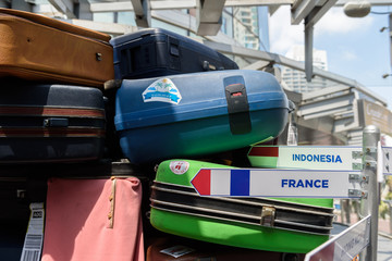 travel bag with France lable