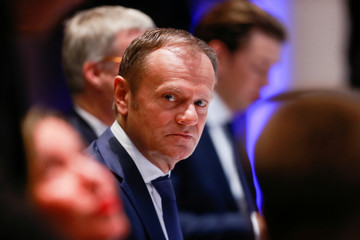 EU Council President Tusk attends the EU leaders summit in Brussels