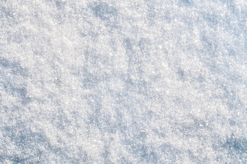 Top view of snow texture