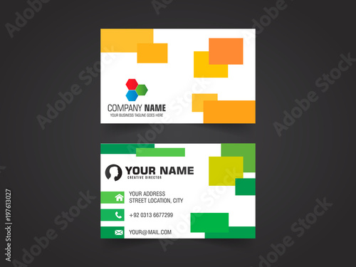 Vector modern creative business card template stock image and vector modern creative business card template reheart Image collections