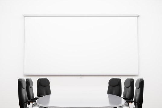 Small Meeting Room. 3D illustration