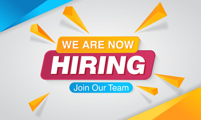 We are Hiring Poster or Banner Design
