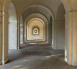 colonnade on cemetery