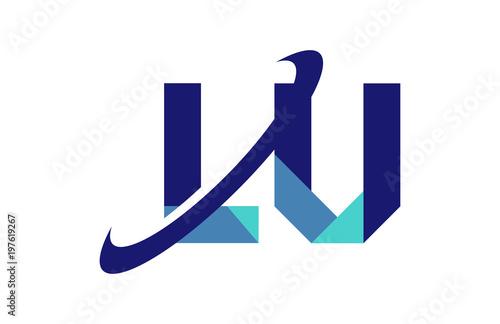 Lu Ellipse Swoosh Ribbon Letter Logo Stock Image And Royalty Free