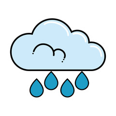 cloud rain weather isolated icon vector illustration design