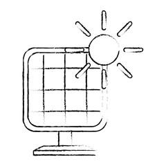 panel solar energy alternative vector illustration design
