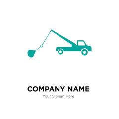 tow truck company logo design template, Business corporate vector icon