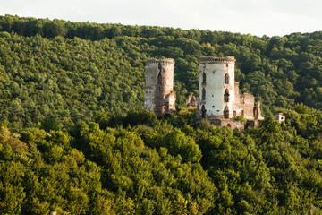Photo sur Plexiglas Ruine The ruins of an old castle in the village of Chervonograd. Ukraine