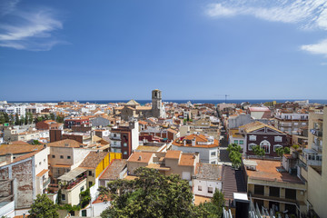 General view of the city of Malgrat de Mar, Maresme region, province Barcelona, Catalonia.