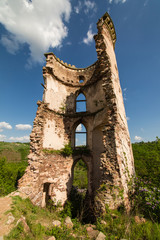 Aluminium Prints Ruins The ruins of an old castle in the village of Chervonograd. Ukraine