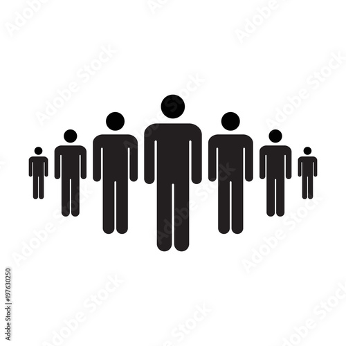 People Icon Vector Group Of Men Team Symbol For Business Infographic