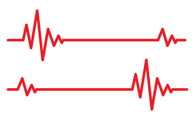 Heartbeat icos. Vector illustration.